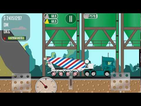 Game for Android Truck Driver Joe we transport concrete to the construction site of the pipe plant