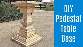 DIY Round Kitchen Table - Wooden Pedestal Base - Part 1 Of 4 Video Series