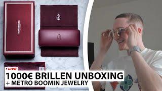 1000€ Brillen Unboxing + Metro Boomin Jewelery | Live - Reaktion