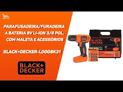 Parafusadeira/Furadeira a Bateria 8V Li-Ion 3/8 Pol. com Maleta e Acessórios - Video