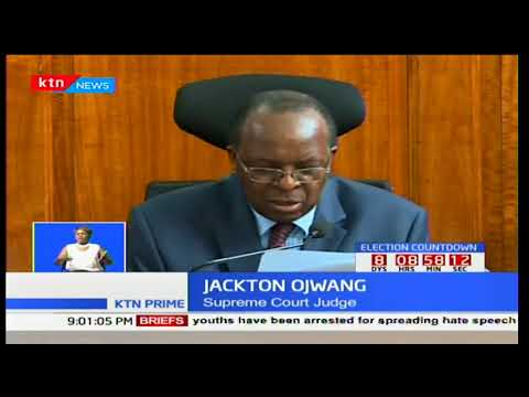 Supreme Court awards IEBC Chairman Wafula Chebukati with the authority to verify forms 34A and 34B