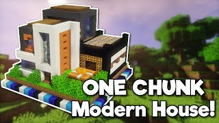 Minecraft Modern House In One Chunk Minecraftvideos Tv