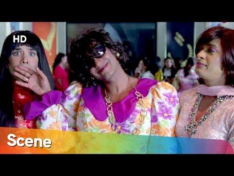 Ajay Devgan Disguise as Woman Hide's From Kareena Kapoor - Golmaal Returns - Superhit Comedy Movie
