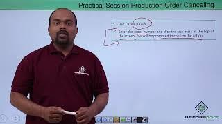 SAP PP - Canceling Production Order