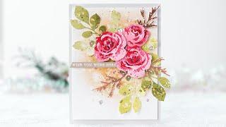 Die Cut Rose Bouquet With  Garden Picks 3D Die Set /Altenew January 2019 Release