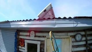 Испытание солнечной панели в деревне