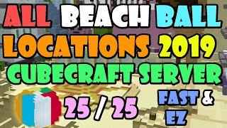 CubeCraft, Bedrock Edition - ALL 15 Beach Ball Hunt