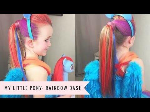 My Little Pony: Rainbow Dash Tutorial by SweetHearts Hair