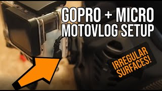 HOW TO PUT A GOPRO ON A MOTORBIKE HELMET (For irregular surfaces!)