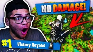 SURVIVING FALL FROM *MAX HEIGHT* FROM A SKYBASE In Fortnite Battle Royale! INSANE PORT-A-FORT PLAY!