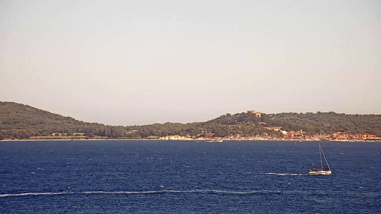 Webcam en direct de l'île de Porquerolles, la plus grande et la plus occidentale des trois îles d'Hyères