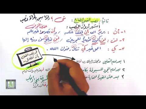 شرح درس رفع الفعل المضارع ونصبه - اللغة العربية - الصف الأول الثانوي - نفهم