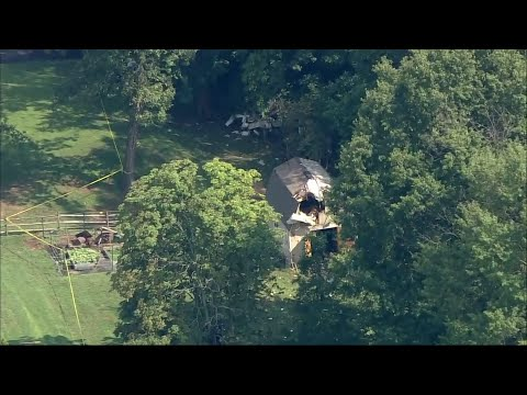 A small plane has crashed in the backyard of an eastern Pennsylvania home, killing three people aboard the aircraft. The single-engine plane went down around 6:20 a.m. Thursday in Willow Grove, a town some 30 miles north of Philadelphia. (August 8)