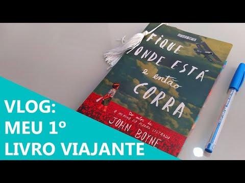 VLOG #5 : Meu 1º livro viajante - Fique onde está e então corra (sem spoiler) ??? | Biblioteca da Rô