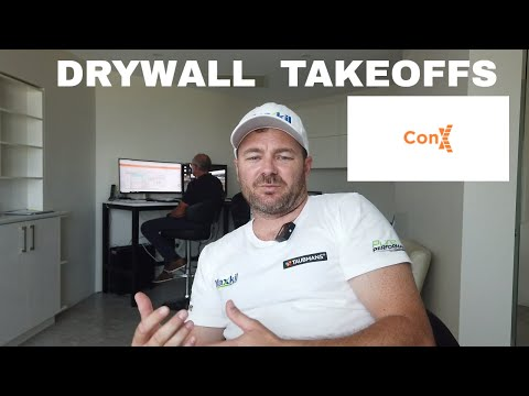 , title : 'Drywall Takeoff using ConX Construction Software