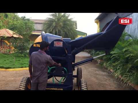 Power Stearing Hydraulic Hopper Concrete Mixer Machine