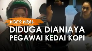Viral Driver Ojol di Bandung Dilempar Kemasan Susu Pegawai Kedai Kopi, Anak Sebut Bibir Ibu Berdarah