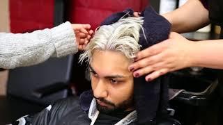 How To : Men Platinum Blonde Hairstyle (Brown Boy) NEW 2018