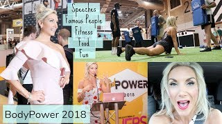 Speaking & Running Fitness Classes at Bodypower... & Meeting Kelsey Wells!
