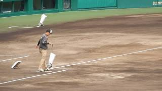 阪神タイガース2018/阪神園芸さんのライン引き2018.04.15