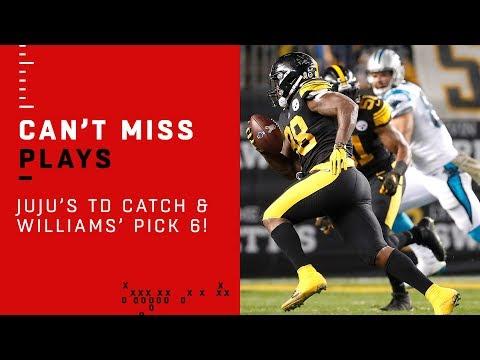 Back-to-Back Steelers TDs w/ JuJu's 75-Yarder & Cam's Pick 6!