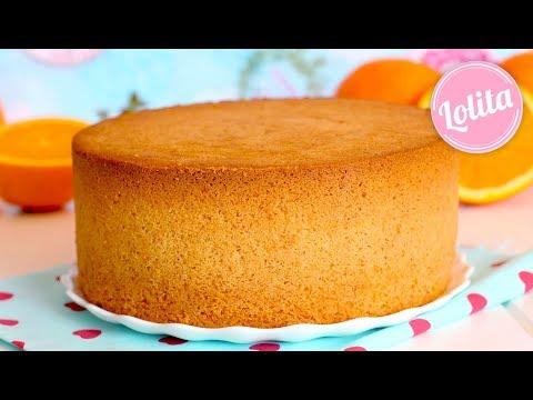 Receta de bizcocho de naranja fácil casero - Como hacer bizcocho esponjoso