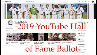 2019 YouTube Hall Of Fame Ballot