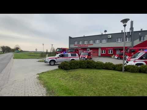 Wideo: Dzień Strażaka 2021 w Grębocicach. Kolumna wozów OSP przejechała ulicami gminę