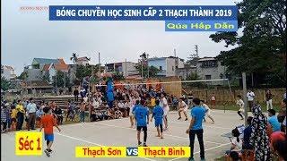 Bóng chuyền học sinh cấp 2 Thạch Thành | Thạch Sơn vs Thạch Bình- C1