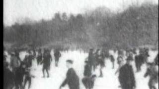 preview picture of video 'Skating On Lake, Central Park 1900'