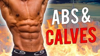 My NEW Abs & Calves Workout In The Gym