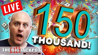 We Did It 💣 150,000 Subscriber Live Massive Slot Play 🎰