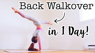 How to do a Back Walkover in One Day!
