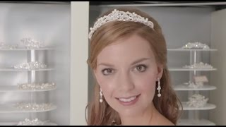 How to wear a tiara with a veil