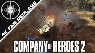 Immobile Players and Raining Rockets - Company of Heroes 2 4K Replays #94