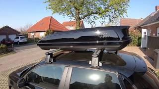 Audi Skibox beladen und sichern Dachbox 300 Liter Schwarz 8V0071200 Audi A1/S1 Sportback Anleitung