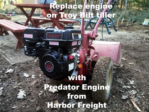 REPLACING CHIPPER MOTOR WITH PREDATOR ENGINE PART1
