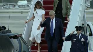 GUESS WHO'S BACK: Trump arrives in Florida ahead of the weekend