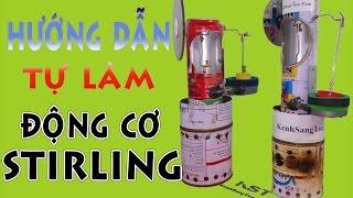 Hướng Dẫn Tự Làm Động Cơ Stirling, động cơ nhiệt đốt ngoài