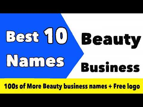 , title : 'Best 10 Beauty Business Names with Free Logo