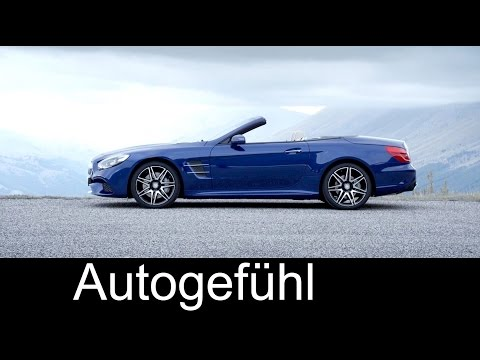 2016 new Mercedes SL 500 Facelift Exterior Interior Roof Preview - Autogefühl