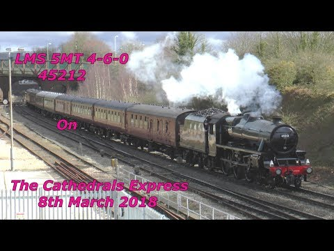 LMS Black 5 45212 with Steam Dreams 'Cathedrals Express' 8th…