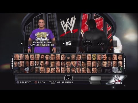Download WWE Smackdown vs Raw 2011 Character Select Screen Including All DLC Packs Roster HD Mp4 3GP Video and MP3
