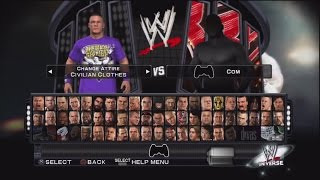 WWE Smackdown Vs Raw 2011 Character Select Screen Including All DLC Packs Roster