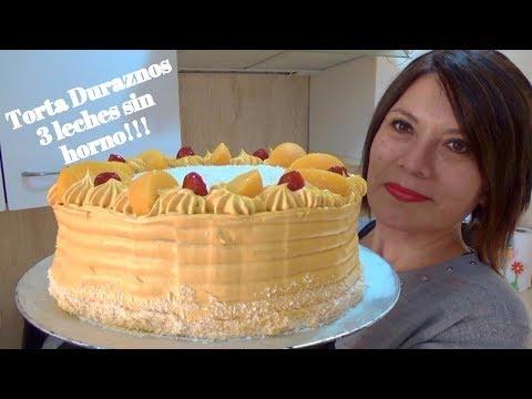PASTEL DURAZNOS 3 LECHES  SIN HORNO!!! / Silvana Cocina ❤