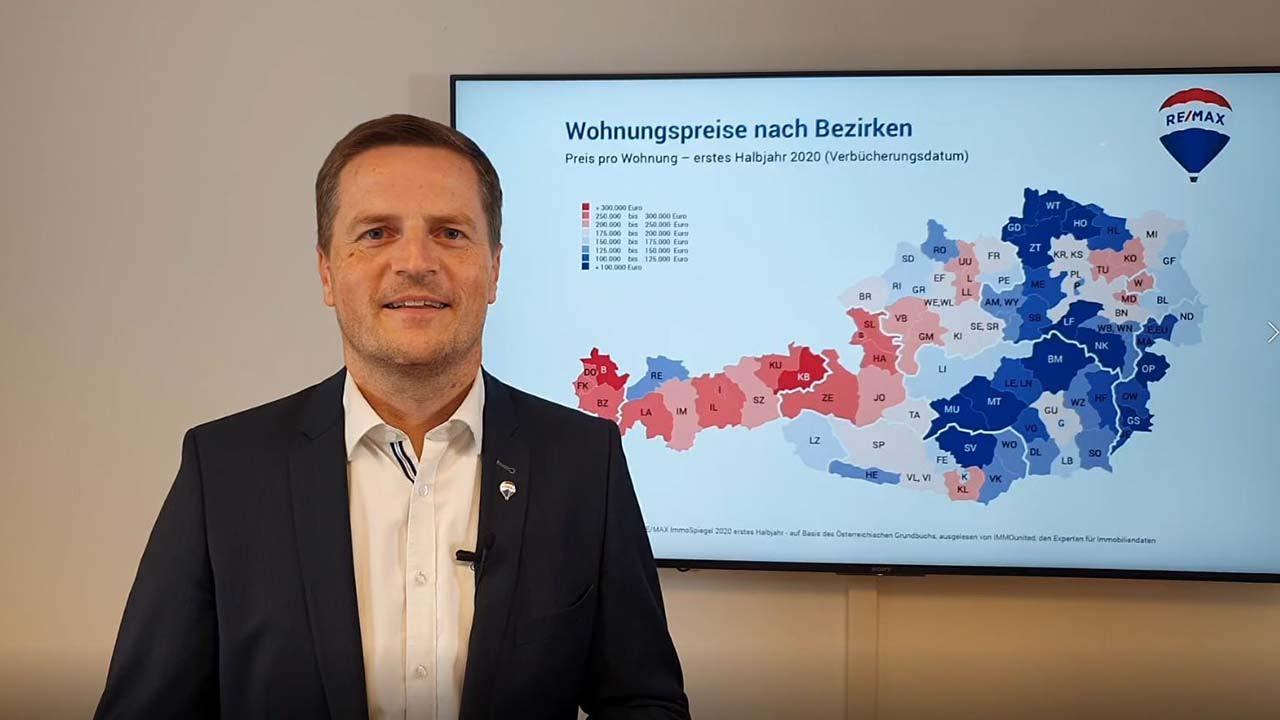 RE/MAX ImmoSpiegel - Geschäftsführer von RE/MAX Austria, Bernhard Reikersdorfer, MBA über den Wohnungsmarkt 2020 - 1. Halbjahr