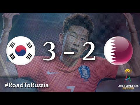 Южная Корея - Катар 3:2. Видеообзор матча 06.10.2016. Видео голов и опасных моментов игры