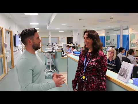 Lee Johnson takes BHI hospital tour