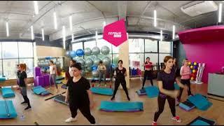 Первый фитнес видео 360 градусов