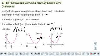 Eğitim Vadisi 11.Sınıf Matematik 10.Föy Fonksiyon Dönüşümleri 2 Konu Anlatım Videoları